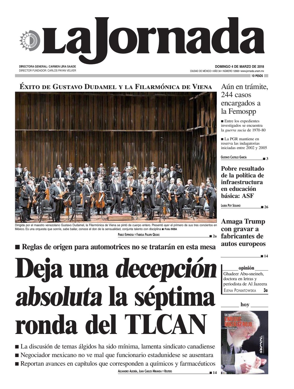 La Jornada, 03/04/2018 by La Jornada: DEMOS Desarrollo de Medios SA ...