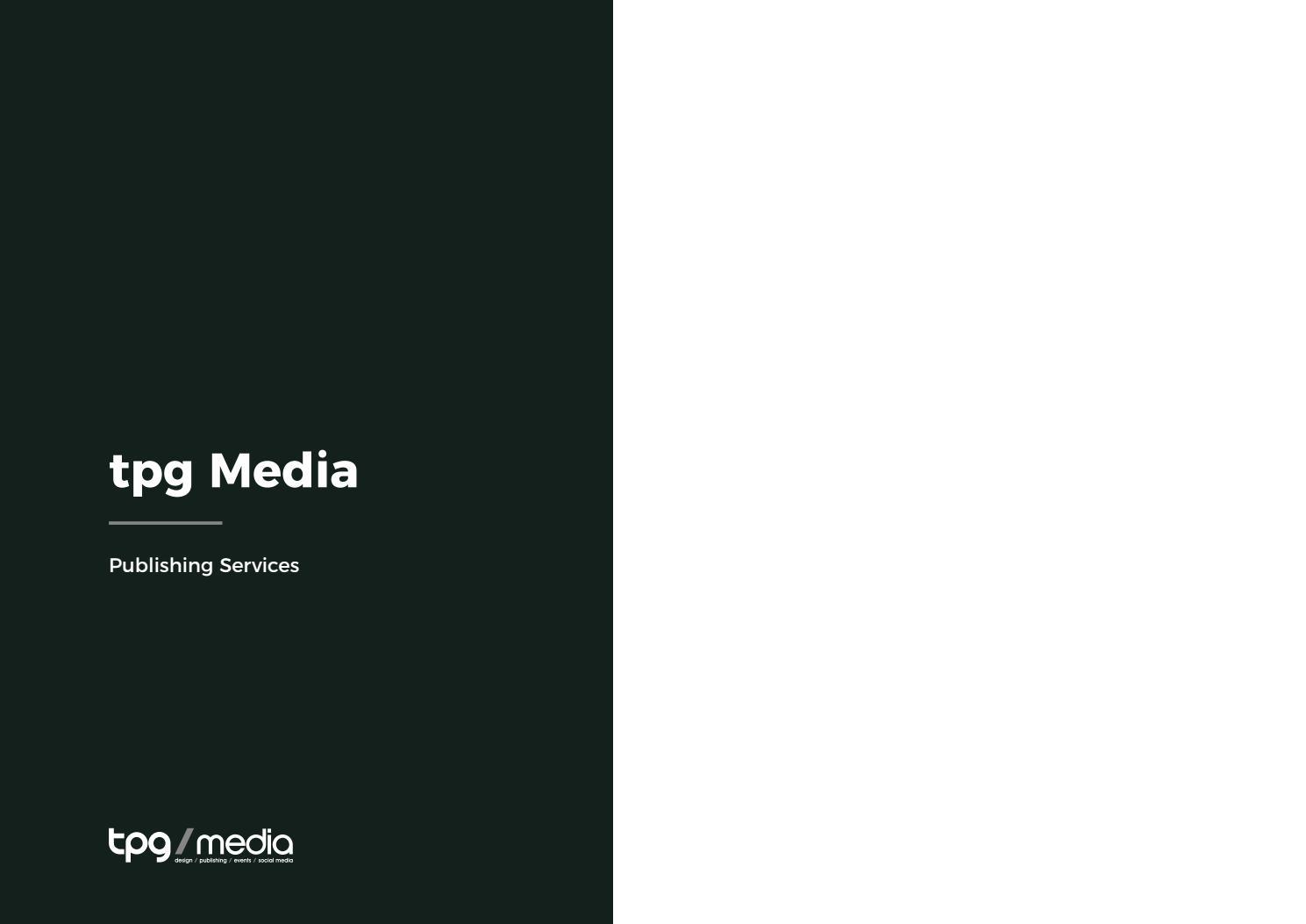 tpg Media Publishing Services by tpg publishing - issuu