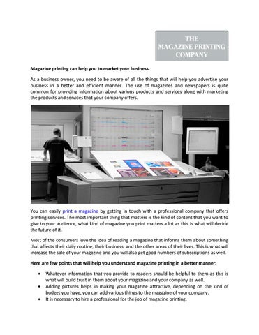 magazine printing can help you to market your business by church of