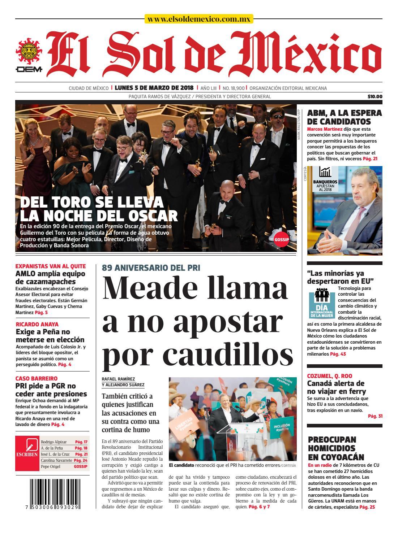 El Sol de México 05 de marzo 2018 by El Sol de México - issuu