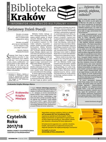 Biblioteka Kraków Informator Czytelniczo Kulturalny Marzec