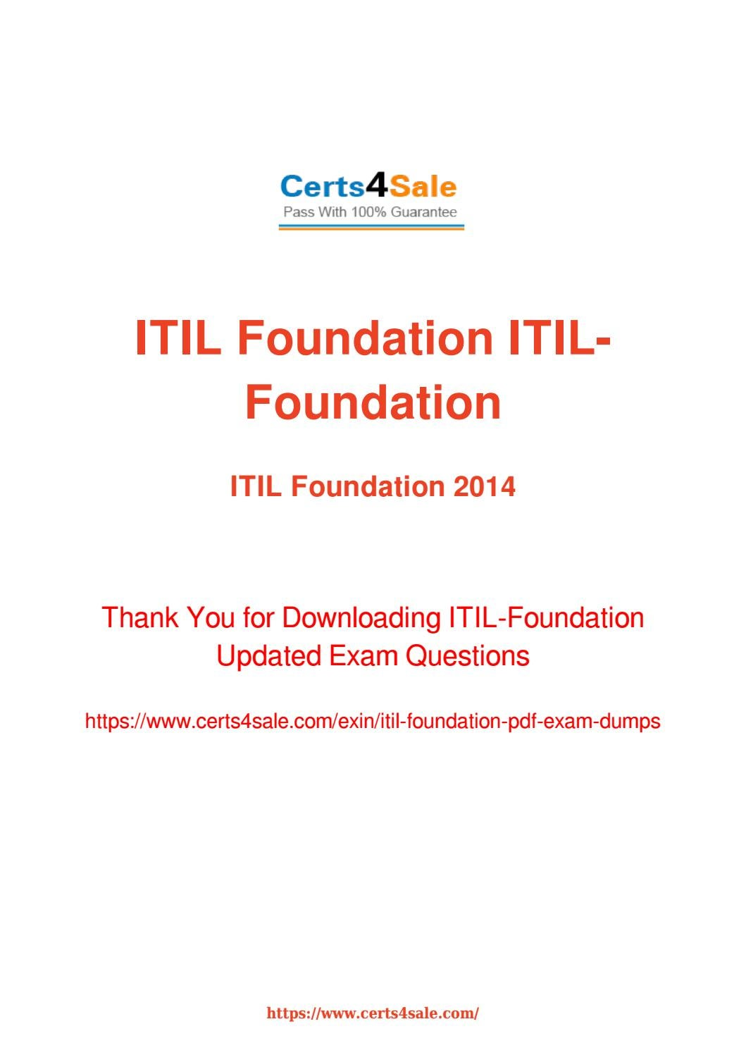 Try Exin Itil Foundation Exam Questions With 100 Success Guarantee
