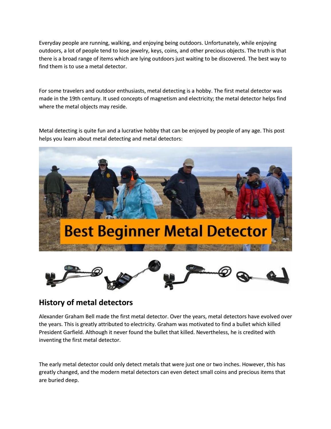 A Complete Guide To Metal Detecting For Beginners By Michael Flores Fun Detector Findcoins At The Beach Issuu