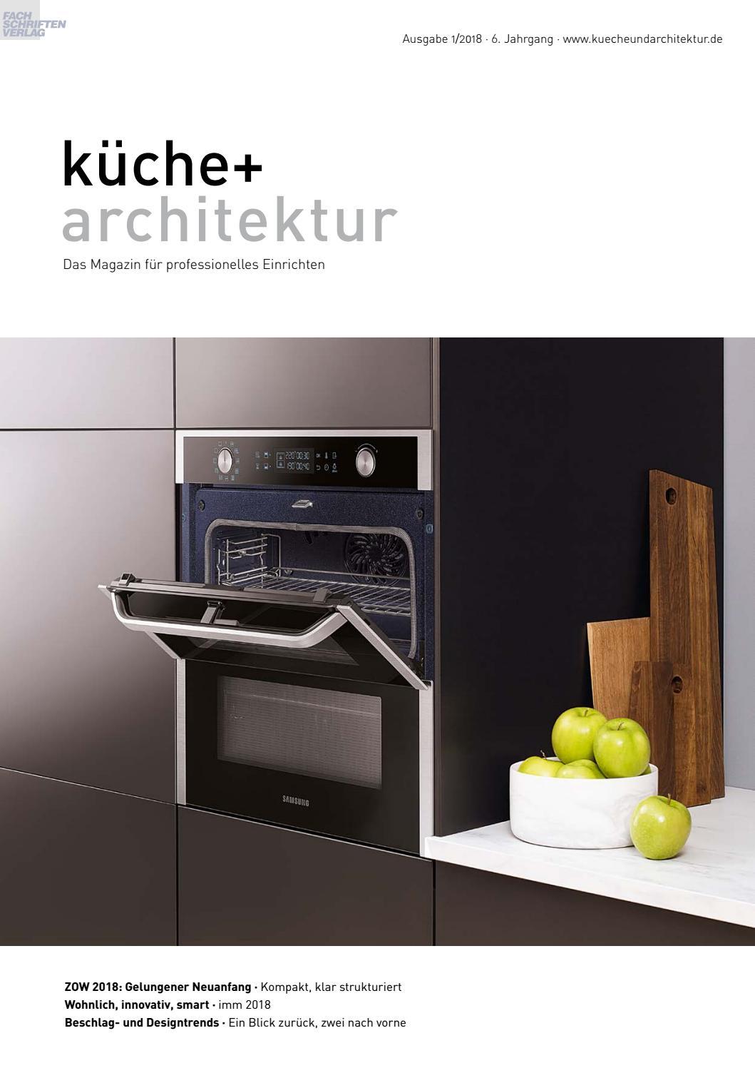 küche + architektur 1/2018 by Fachschriften Verlag - issuu