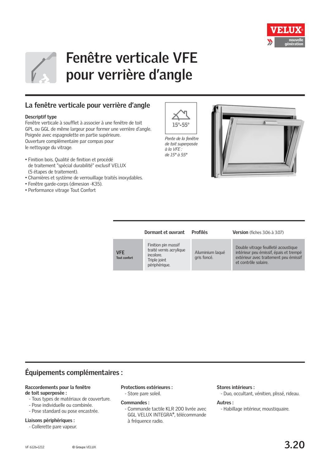 Fiche Technique Fenetre Verticale Vfe Pour Verrieres D Angle