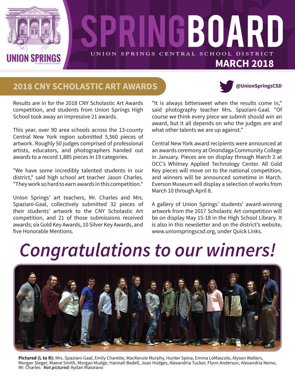 Union Springs Central School District - March 2018