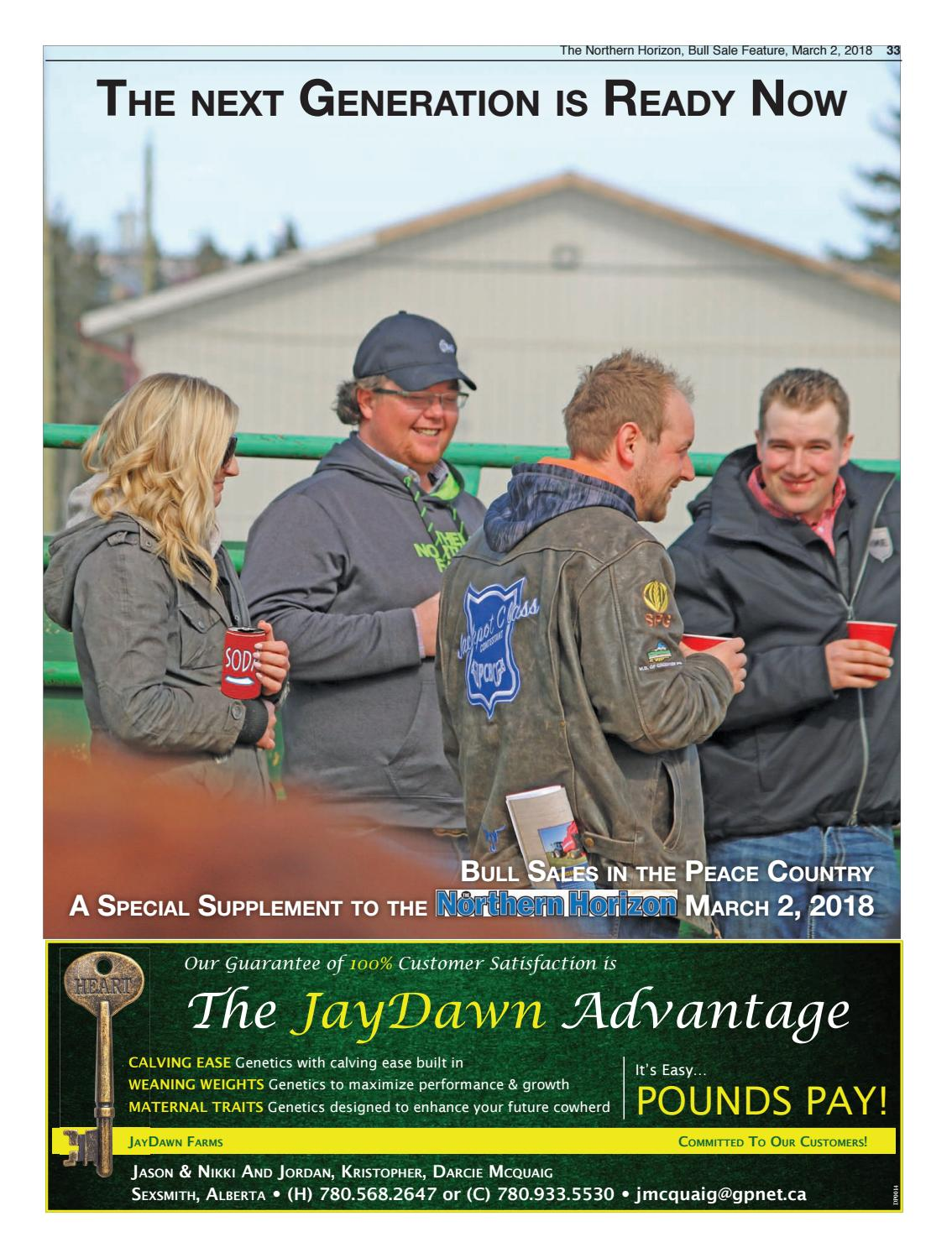 Northern Horizon Bull Sale Supplement#2 2018-0302 by The