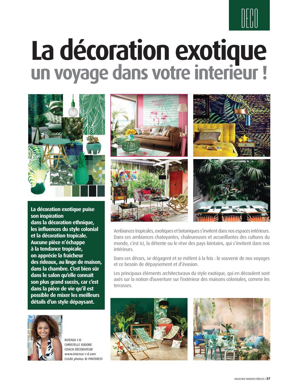 Deco Chambre Style Exotique magazine maisons créoles n°118 martiniquemagazine