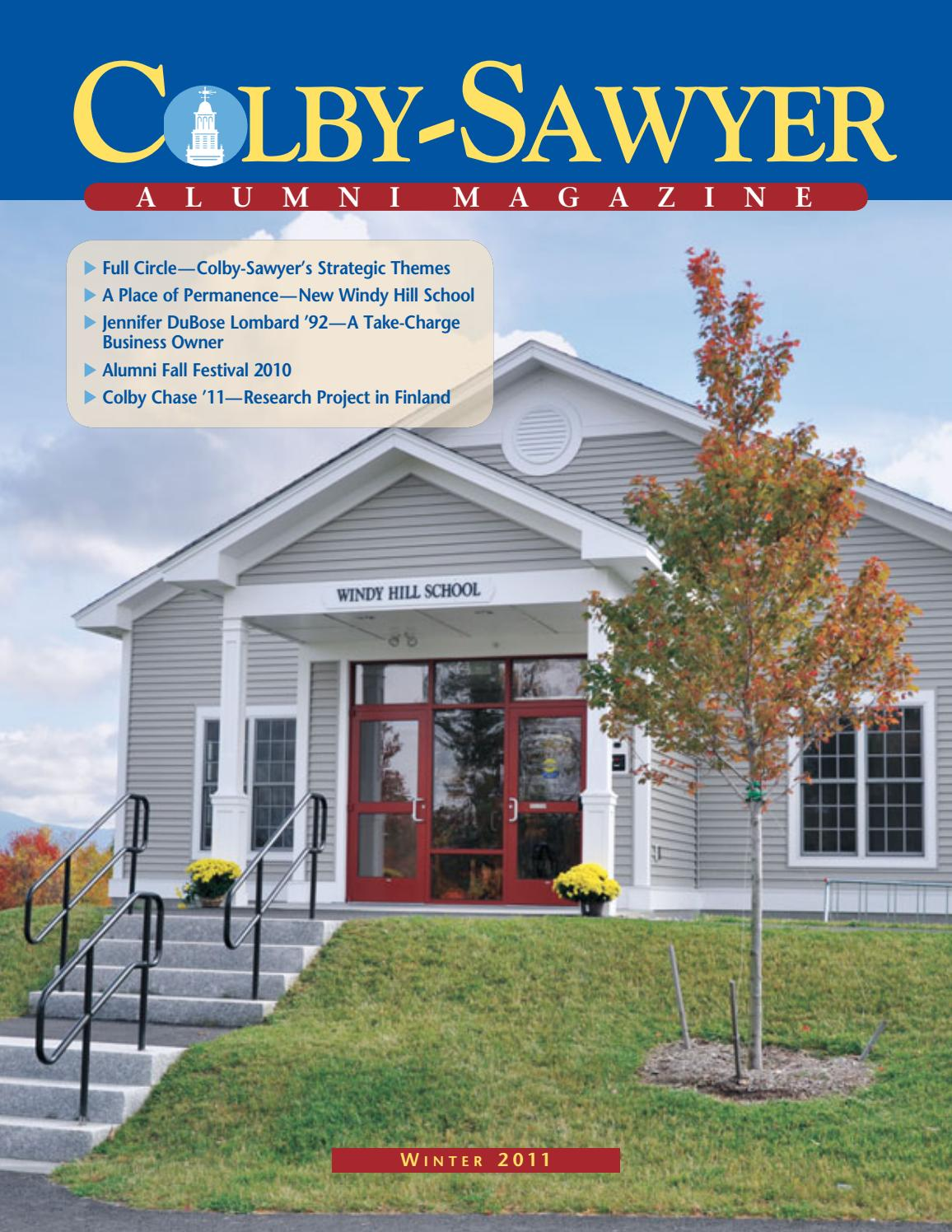 Alumnimagazine winter11 by Colby-Sawyer College - issuu