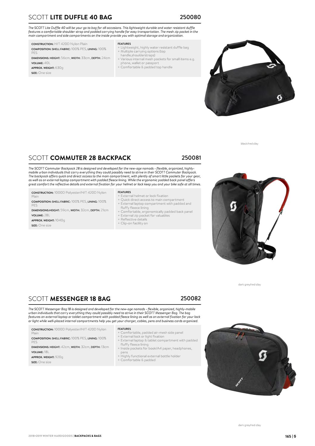 Red 250081 NEW Scott Sports Cycling Bag Commuter 28L Backpack /'19 Grey
