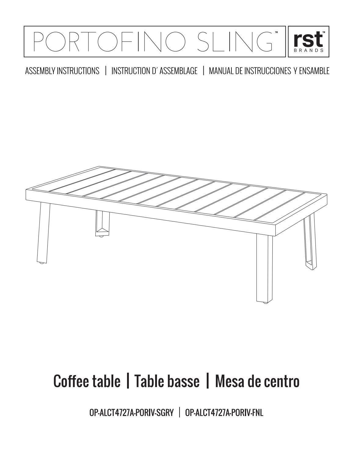 Peachy Portofino Sling Coffee Table Instructions For Grey And Creativecarmelina Interior Chair Design Creativecarmelinacom