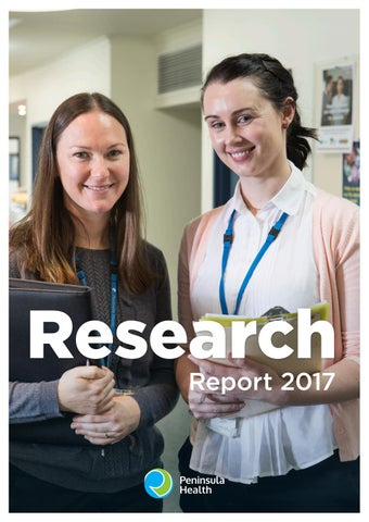 Research Report 2017 By Peninsula Health Issuu