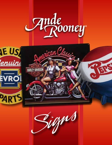 """New Ande Rooney Embossed Tin Sign Smokey Item Number 2060111 9 3//8/"""" x 14/"""""""