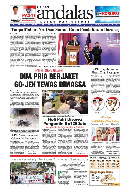 Epaper Andalas Edisi Selasa 06 Maret 2018 By Media Issuu Warior Lc Pendek All Black Sekolah Prsmuka Kerja Santai Main Anak Dewasa