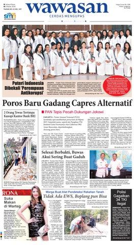 Desain Kamar Tidur Sederhana Ukuran 3x2  wawasan 06 maret 2018 by koran pagi wawasan issuu