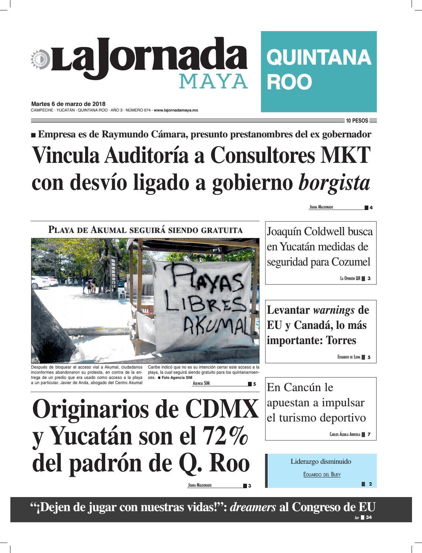 7197027d5 La jornada maya martes 6 de marzo de 2018 by La Jornada Maya - issuu