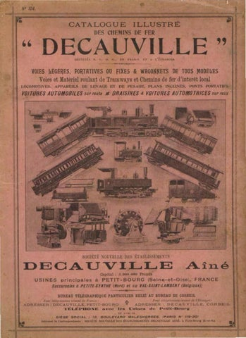 Decauville 1897 Catalogue By Tom Bell Issuu