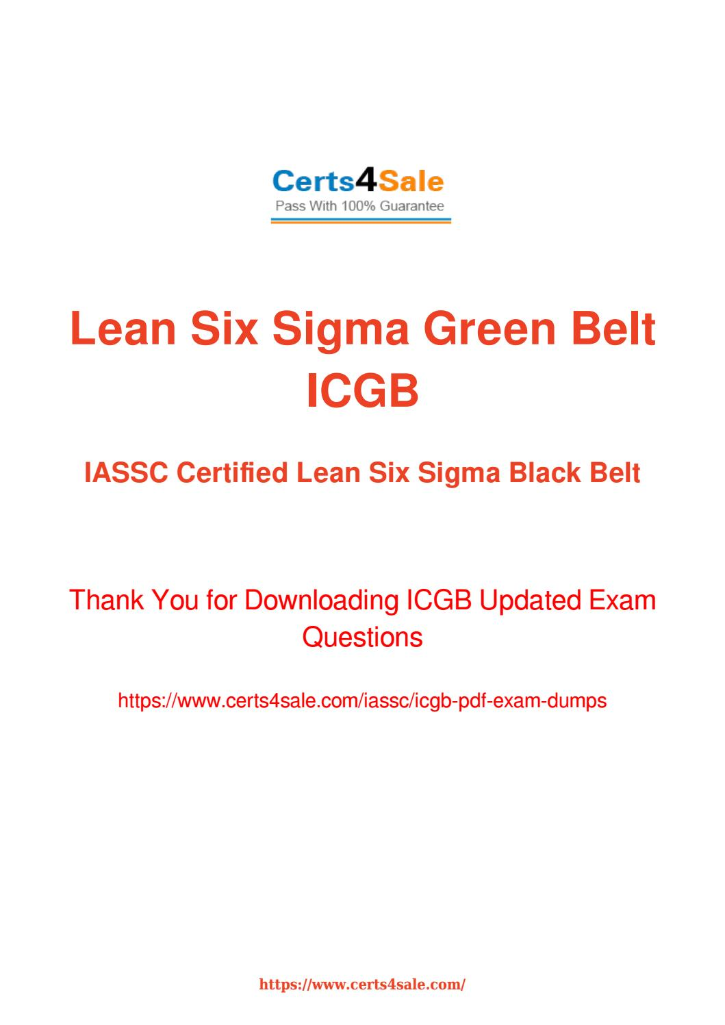 Try Iassc Icgb Exam Questions With 100 Success Guarantee By