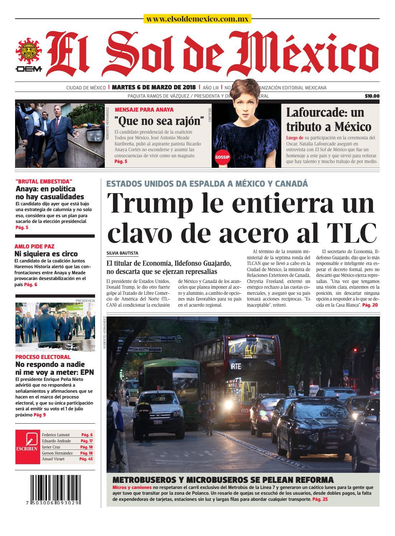d9baf685e75 El Sol de México 06 de marzo 2018 by El Sol de México - issuu