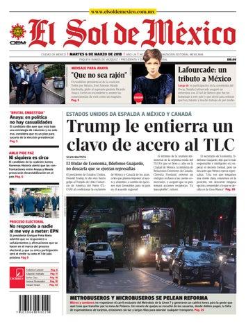 7e11b3ee8 El Sol de México 06 de marzo 2018 by El Sol de México - issuu