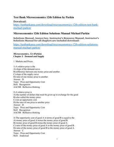 Microeconomics 12th edition test bank michael parkin by tietz issuu test bank microeconomics 12th edition by parkin download httpstestbankareadownloadmicroeconomics 12th edition test bankmichael parkin fandeluxe Image collections