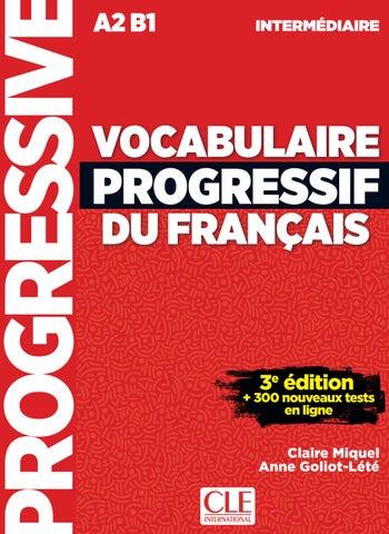 Extrait Vocabulaire Progressif Du Francais Niveau