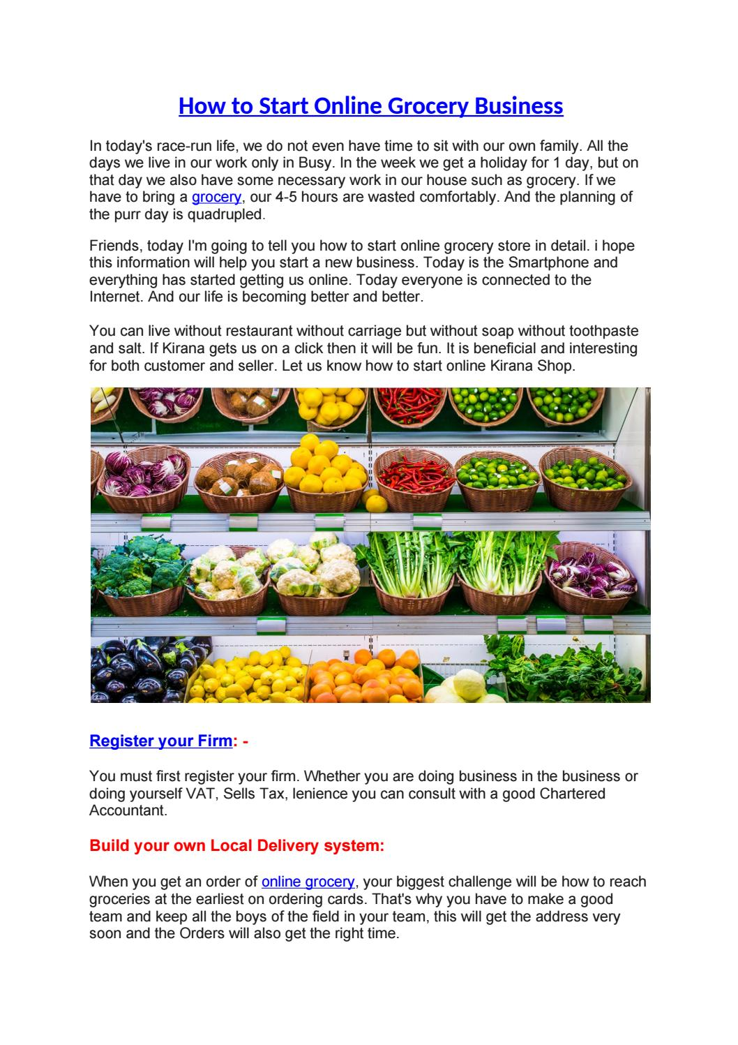 How to Start Online Grocery Business by aapkabazar2 - issuu