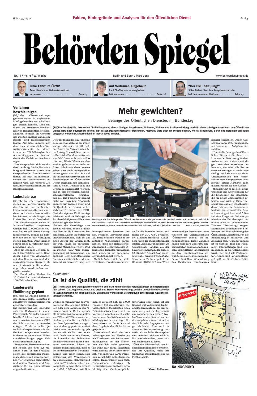 Behörden Spiegel März 25 by propress   issuu