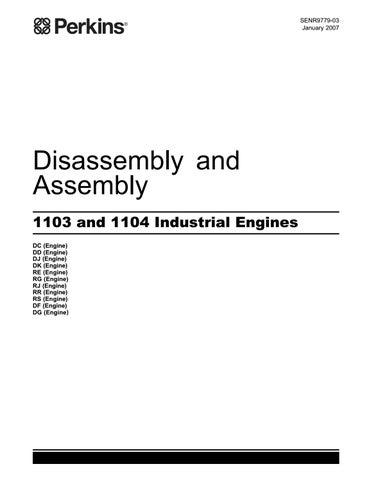 Perkins 1103 and 1104 industrial engine(model rg)service repair