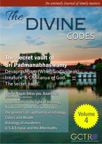 The divine codes | Volume 4 |issue 1 by The Vedicsiddhanta - issuu