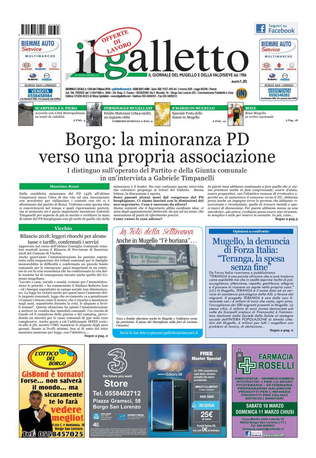 Galletto 1343 del 3 marzo 2018 by Il Galletto Giornale - issuu 92d602bac4fc