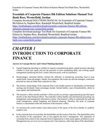 Of pdf essentials corporate finance