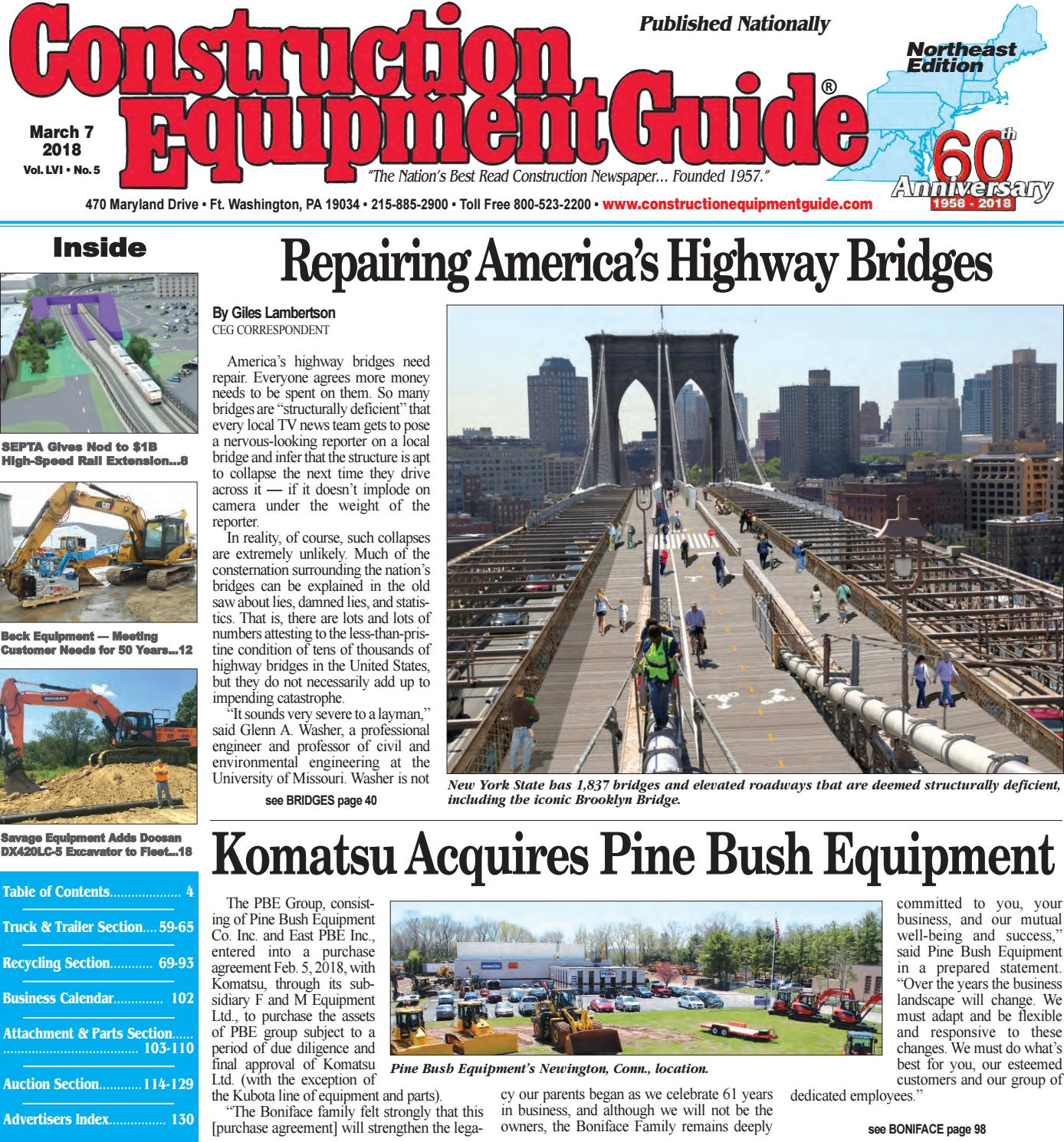 Northeast 5 March 7 2018 By Construction Equipment Guide Issuu Electrical Gt Circuit Breakers Square D 60173 Breaker Multi