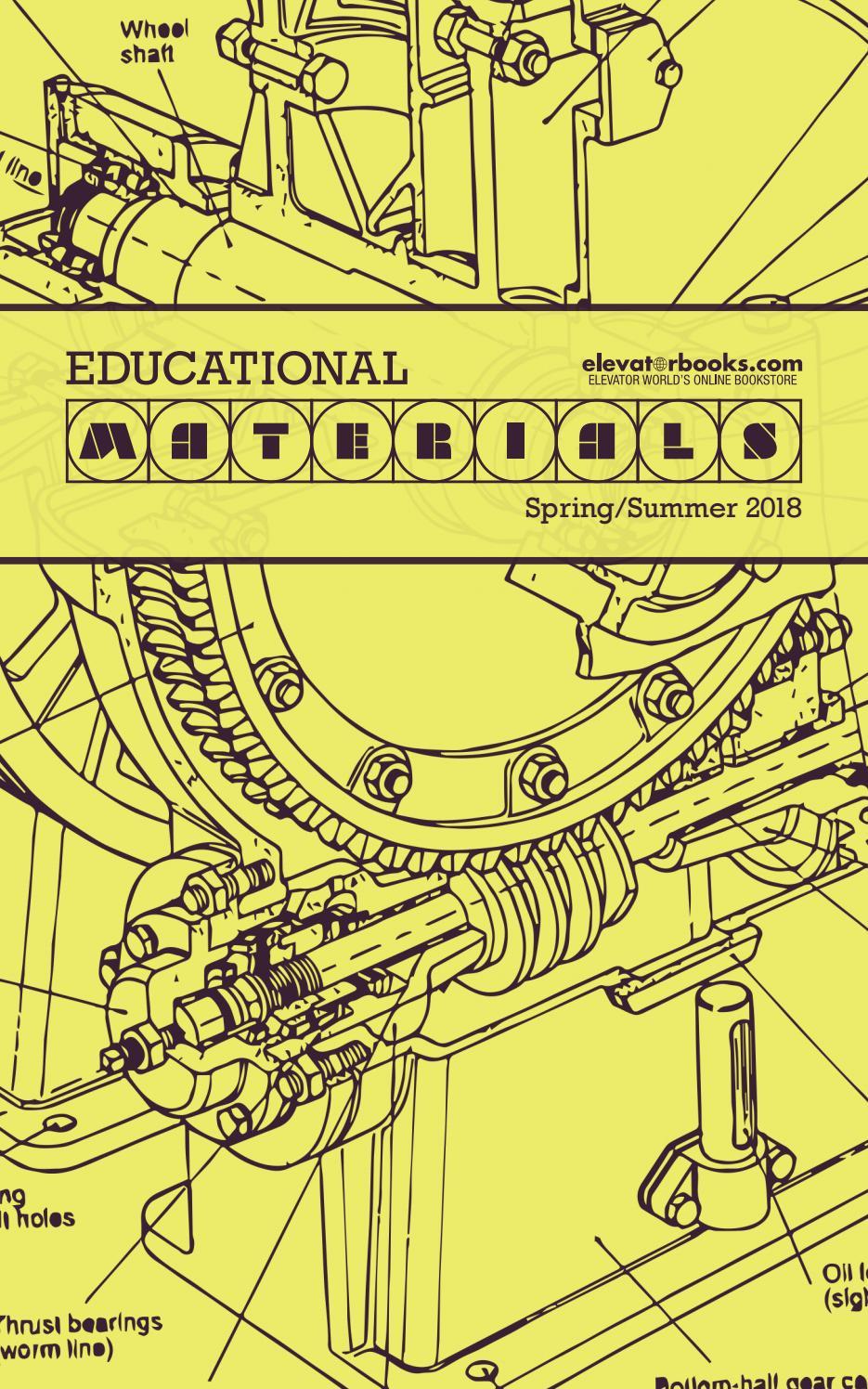 ELEVATOR WORLD | Educational Materials | Spring/Summer 2018