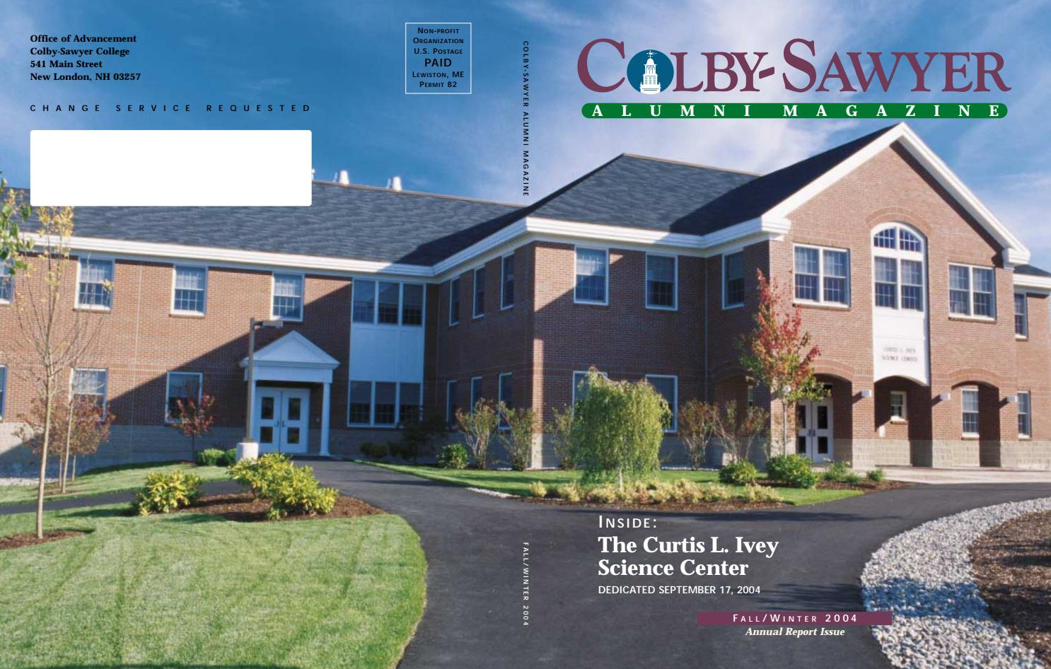 Colby-Sawyer Magazine ~ Fall Winter 2004 by Colby-Sawyer College - issuu 13244539ab3