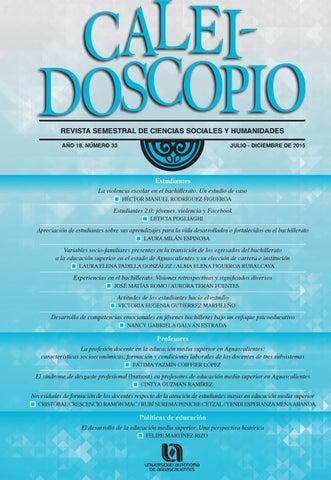 Caleidoscopio 33 by Universidad Autónoma de Aguascalientes ... 623a90f535fb