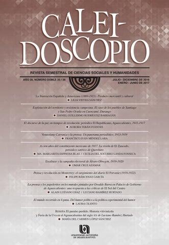 Caleidoscopio 35 Y 36 By Universidad Autnoma De Aguascalientes