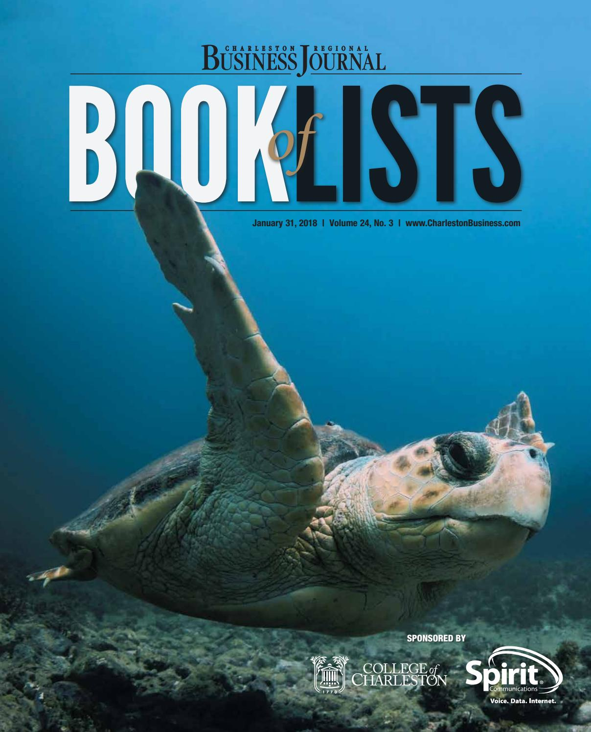 e91b66e66 2018 Charleston Book of Lists by SC BIZ News - issuu
