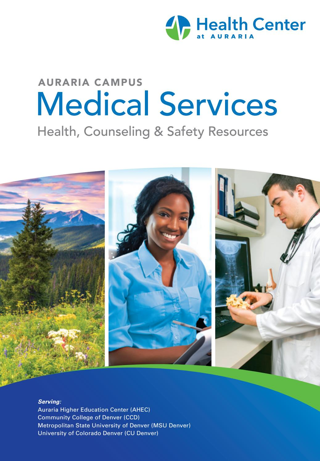 Health Center At Auraria Medical Services Brochure By Health