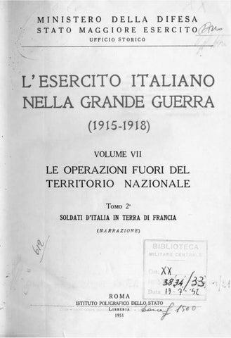L ESERCITO ITALIANO NELLA GRANDE GUERRA VOL.VII tomo 2 by Biblioteca ... 00374a1569af