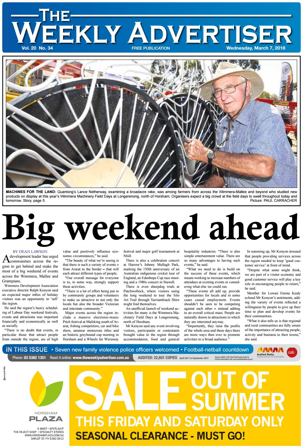 b4e2fa72cc4 The Weekly Advertiser - Wednesday