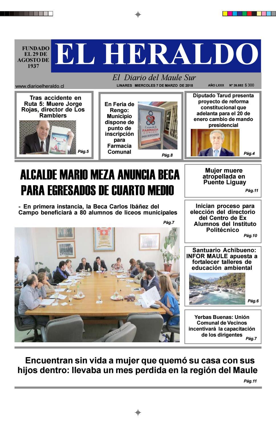miercoles 07 de marzo 2018 by diario heraldo de linares