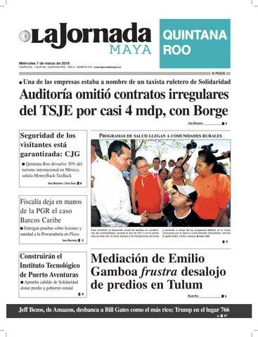 e68d5e922539a La jornada maya miércoles 7 de marzo de 2018 by La Jornada Maya - issuu