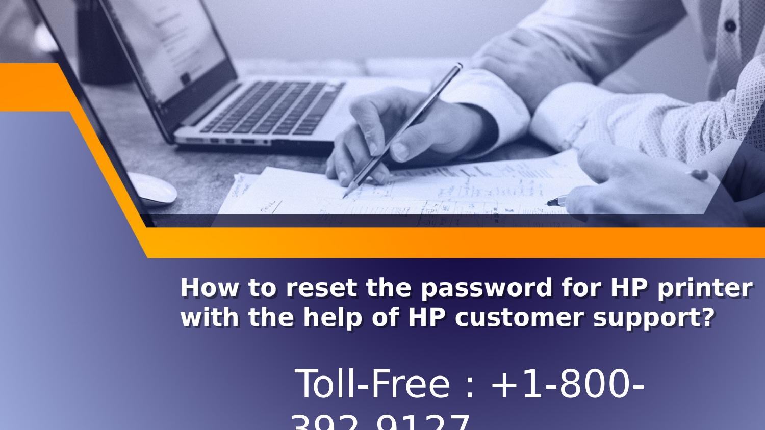 How to reset the password for hp printer with the help of hp