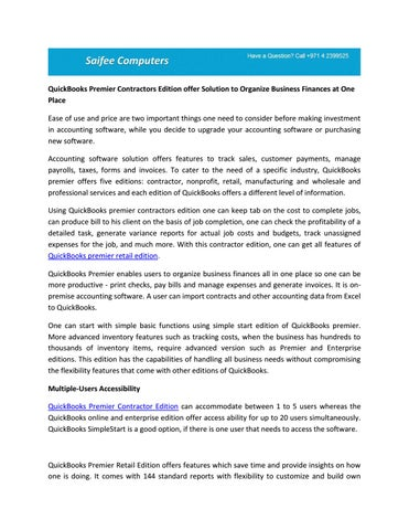 Intuit quickbooks enterprise solutions.