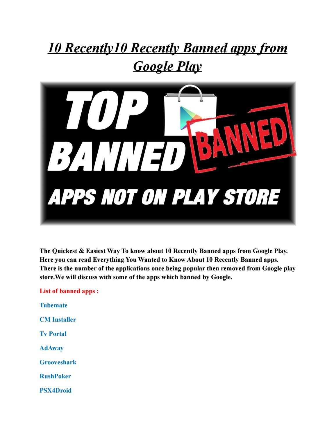 OMG! 10 Recently Banned apps from Google Play Ever! by