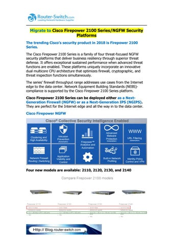 Migrate to cisco firepower 2100 series by Router Switch - issuu