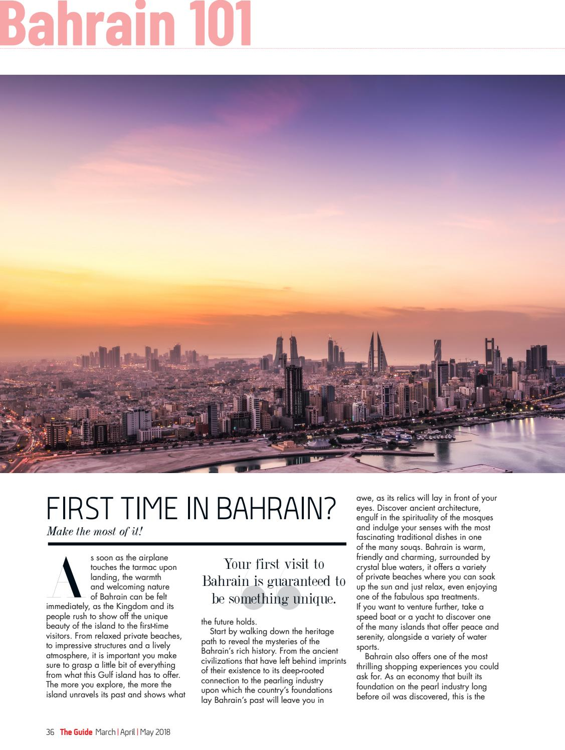 The Guide by Visit Bahrain | March-May '18 by Visit Bahrain