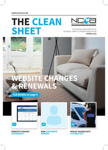 www.ncca.co.uk. THE CLEAN SHEET