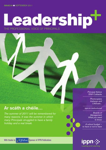 2aa3b2e8b8a Leadership+ Issue 64 September 2011 by Irish Primary Principals ...